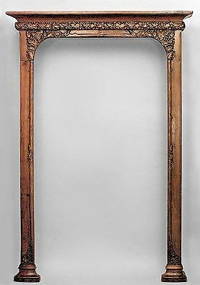 French Art Nouveau Walnut Narrow 3 Section Bookcase/Archway with 6 Shelves