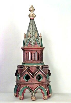 4 English Gothic Revival style (19th Cent) painted architectural castle steeples