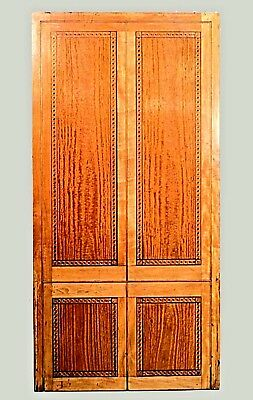 English Georgian style marquetry & satinwood panel with guilloche border (in the