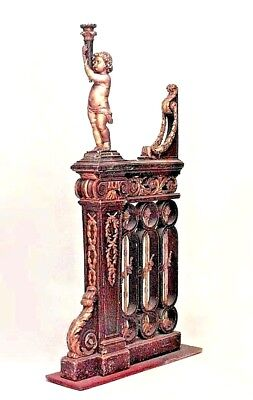 Pair of French Louis XVIStyle (19th Cent) Walnut & Gilt Trimmed Filigree Railing