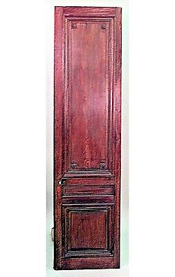 Pair of French Louis XVI style stained walnut doors with each panel cornered by