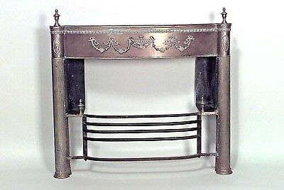 English Adam style (19th Cent) brass fireplace mantel with urns and applied bras