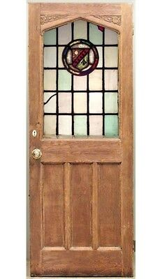 English Renaissance Style Oak Framed Doors with Arch Top