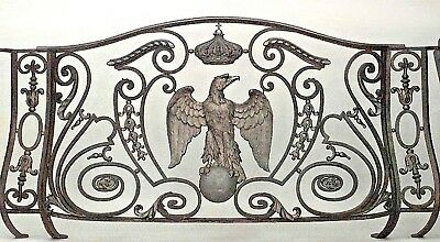 French Empire Style (19th Cent) Iron and Bronze Trimmed Railing