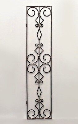 10 Italian Renaissance style (19/20th Cent) narrow iron gates with open scroll d