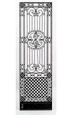 9 American Victorian style (19/20th Cent) iron gates with filigree scroll desig
