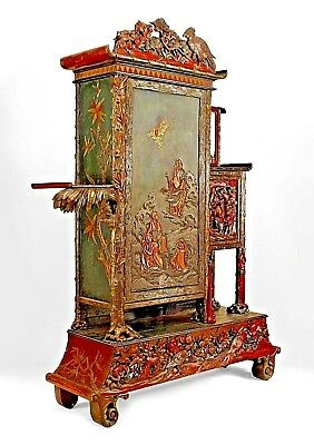 Asian Chinese style (19th Cent) large carved and lacquered armoire cabinet with