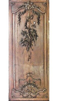 French Regence Style (19th Cent) Oak Panels with Trophy Carving