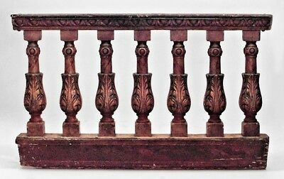 Italian Neo-classic Style Carved and Decorated Balustrade Railings