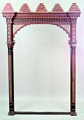 Moorish red and gold painted large archway with geometric design (19/20th Cent.)
