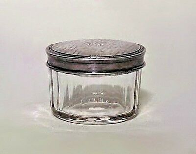 French Art Deco Small Round Crystal Box
