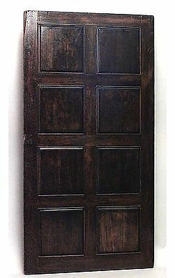 6 English (20th Cent) walnut panels with 8 square sections and stripped sides (P