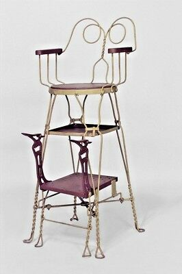American Victorian Painted Wire Shoe Shine Chair