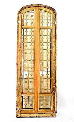 French Victorian Stripped Arch Top Doors