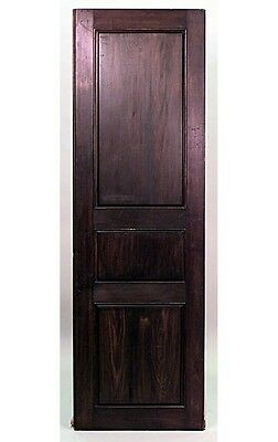 4 English (20th Cent) walnut panels with 3 rectangular sections and stripped sid