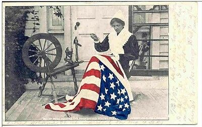 AH134 Besty Ross American Flag St Louis Missouri MO 1907 Vintage PC