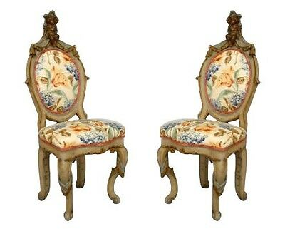 Pair of Italian Venetian Style (19th Cent) Side Chairs