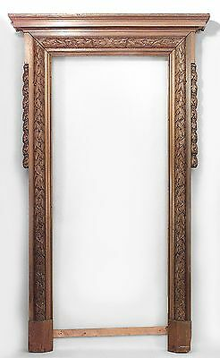 English Georgian Style Mahogany Carved Archways with Oak and Laurel Leaf Design