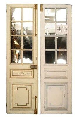 3 Similar Pair of French Louis XVI Style (19th Cent) Stripped Doors with Mirror