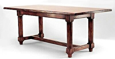 English Renaissance style (20th Cent.) oak refectory table supported by 4 cylind