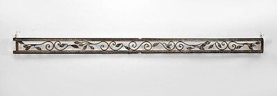 French Art Deco Hammered Steel Valance
