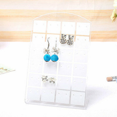 New Hole Earrings Ear Studs Jewelry Display Stand Organizer Holder Transparent
