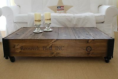 Coffee Table, Side Table walnut Solid wood shabby chic vintage Living room table