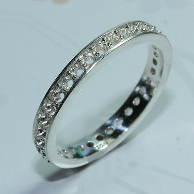 8 us  Eternity ring setting sterling silver 925