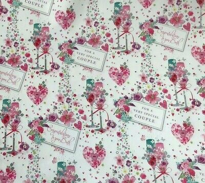 2 Sheet Gift Wrapping Paper BUTTERFLY ROSES Female Delicate Birthday Occasion
