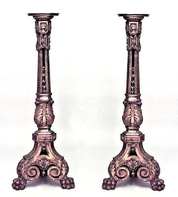 Pair of French Louis XVI Style (19th Cent) Carved Gilt Pedestals