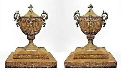 Pair of English Adam Style (18/19th Cent.) Copper Outdoor Urns