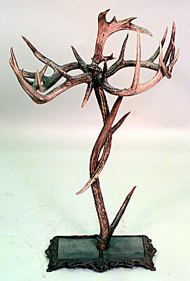 Rustic Continental Style (19th Cent.) Antler Design Umbrella Stand