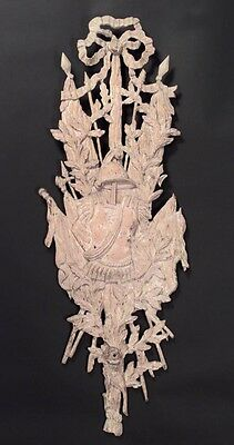 French Louis XV Style (20th Cent.) Stripped and Carved Wall Plaque