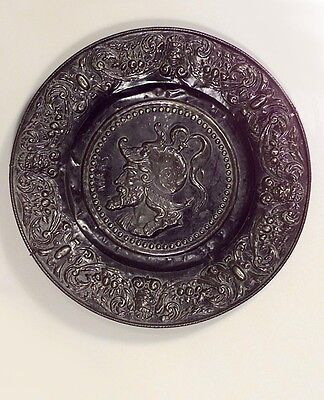 Pair of Italian Neo-Classic Style (19/20th Cent.) Embossed/Patinaed Wall Plaques
