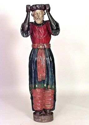 American Carousel Style (19th Cent) Carved and Painted Life Size Turkish Figures