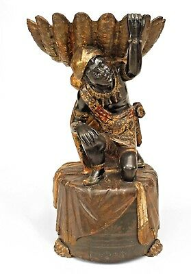 Italian Venetian style (19th Cent) carved and polychromed large figure of kneeli