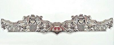 Asian Chinese Style (19th Cent.) Filigree Carved Horizontal Wall Plaque