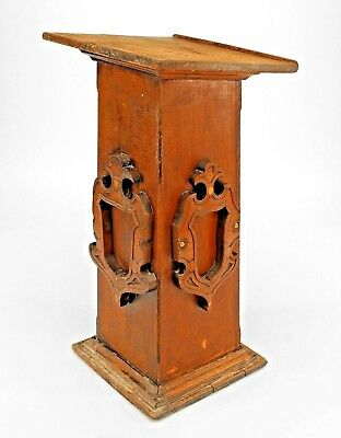 English Renaissance Style (19/20th Cent.) Stained Oak Square Based Lectern