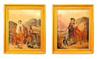 Pair of English Victorian Gilt Framed Oil Portraits