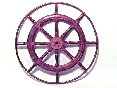 Wooden Ship Wheel with Brass Trim (19th Cent)