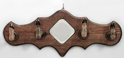 American Country (Victorian) Horizontal Oak Wall Hatrack