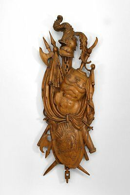 Italian Neo-classic (18th/19th Cent) Large Fruitwood Trophy Wall Plaque