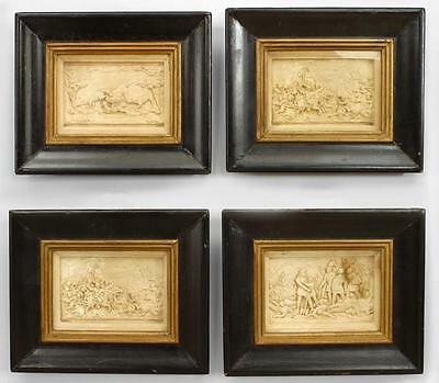 Italian Renaissance Style (19th Cent.) Carved Soapstone Wall Plaques