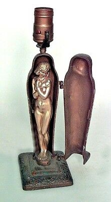 Austrian (19/20th Cent) Bronze Mummy Shaped Table Lamp