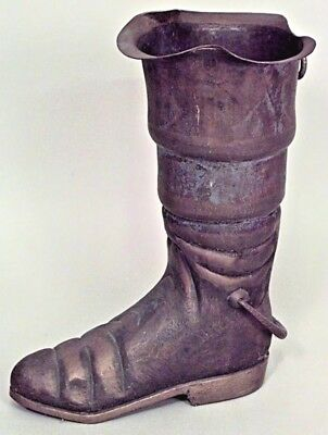 English Victorian Brass Boot Shaped Umbrella Stand