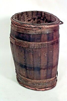 French Provincial (19th Cent) Oak Oval Winemaker's Barrel (Umbrella Stand)