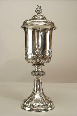 Italian Renaissance Style (19th Cent.) Silver Chalice with Cover