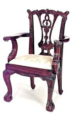 English Chippendale Style (20th Cent.) Mahogany Child's Arm Chairs
