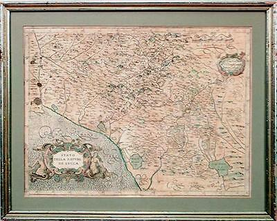 Italian Neo-classic style framed print of map of Italy
