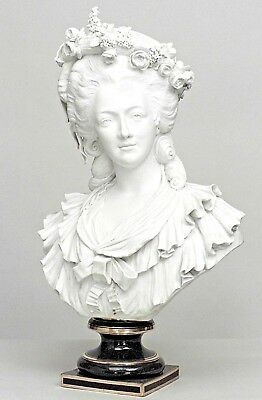 French Louis XVI Style (19th Century) Life Sized Sevres Biscuit Porcelain Bust